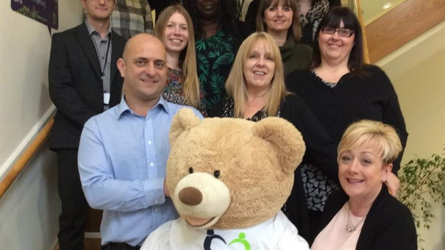 The Trust fostering team with Bertie the fostering bear