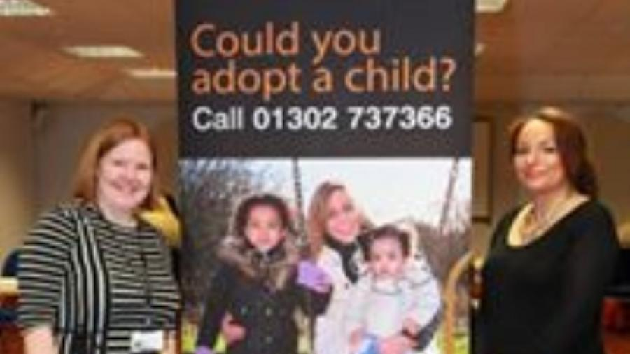 Adoption team members Kate Utley (left) and Claire McCarthy at a previous information event