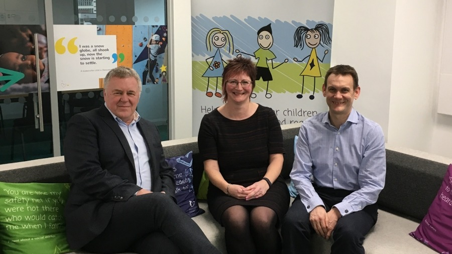 From left to right: Paul Moffatt, Chief Executive, Doncaster Children's Services Trust; Barbara Murray, Children and Adult Mental Health Services Manager, Rotherham, Doncaster and South Humber NHS Foundation Trust and Dr David Crichton, Clinical Chair, NH