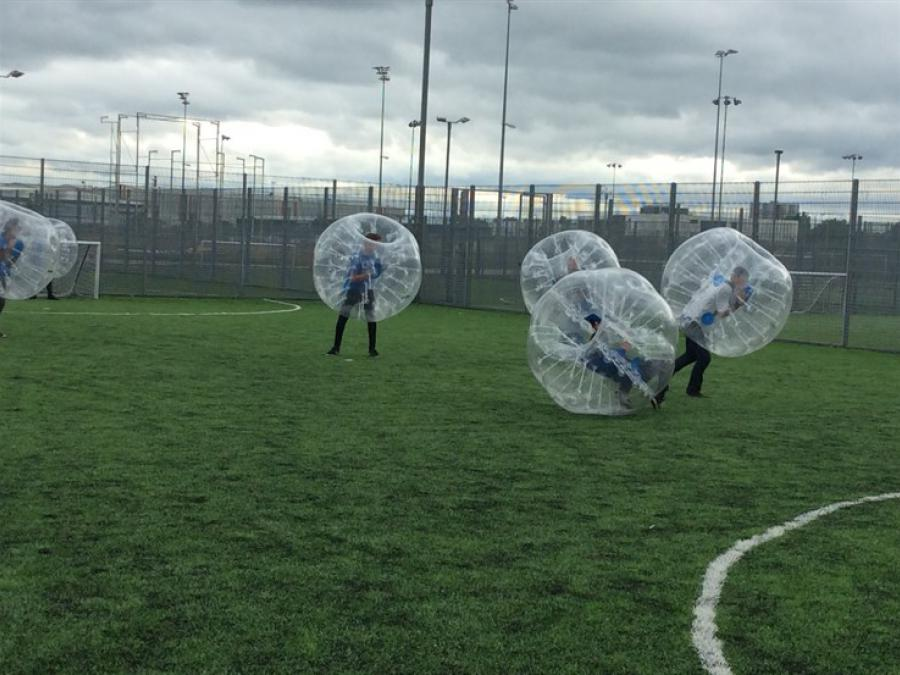 Zorbing is one way of teaching team building skills, resilience and self confidence among young people.