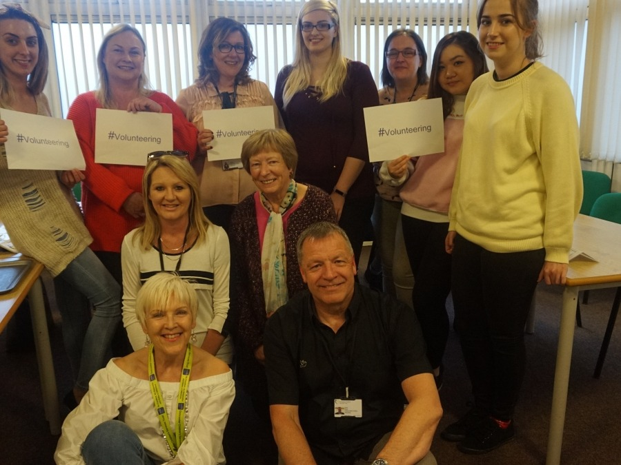 Independent Visitor Service Coordinator, Sue Wakefield (front) with some of the volunteers