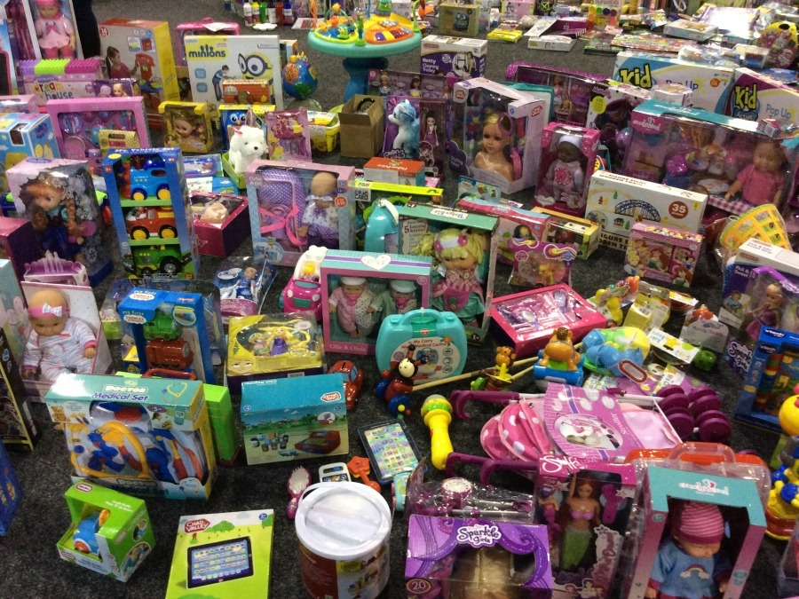 Just some of the toys donated for the annual appeal