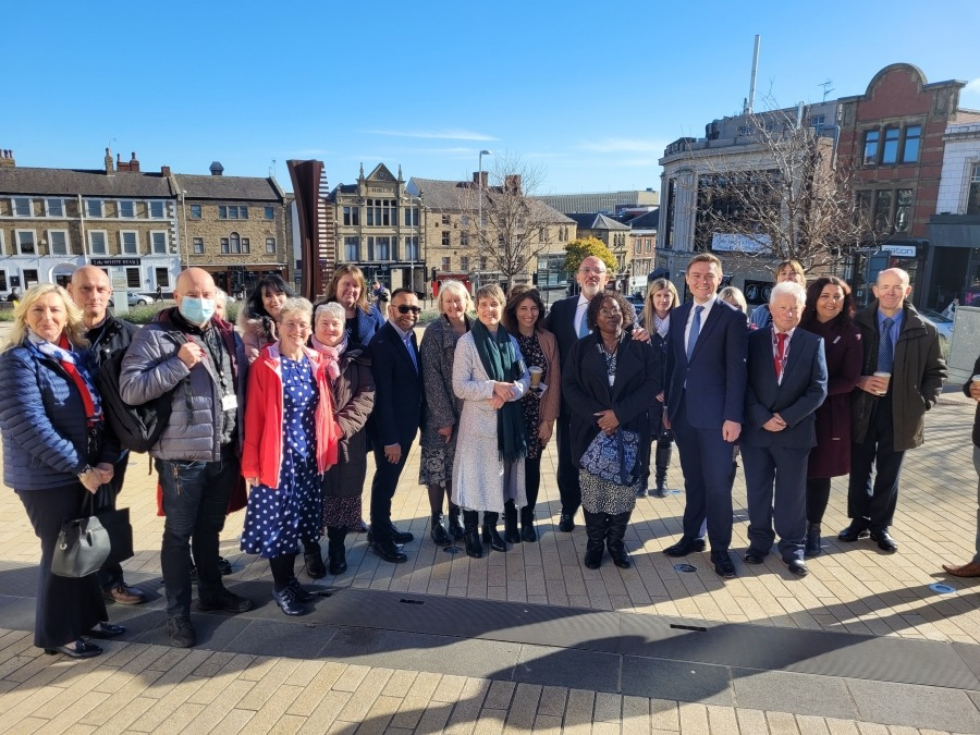 """""""Secretary of State for Education Nadhim Zahawi and Children's Minister Will Quince meet adopters and staff from One Adoption South Yorkshire."""""""